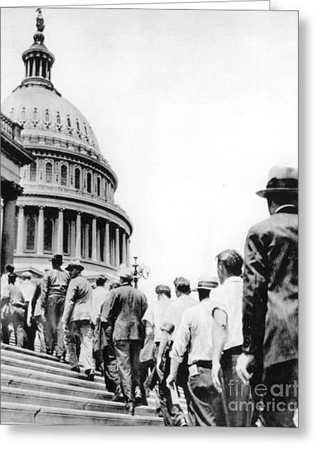 Bonus Army Marchers, 1932 Greeting Card