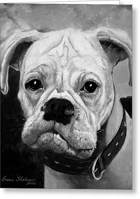 Boo The Boxer Greeting Card