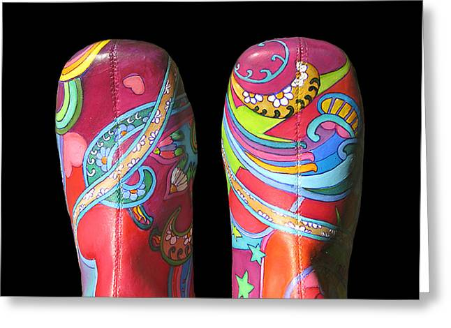 Boogie Shoes 2 Greeting Card by Mary Johnson