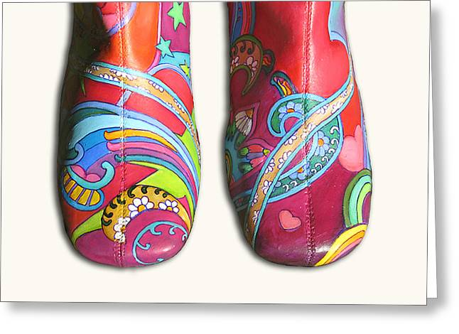 Boogie Shoes Greeting Card by Mary Johnson