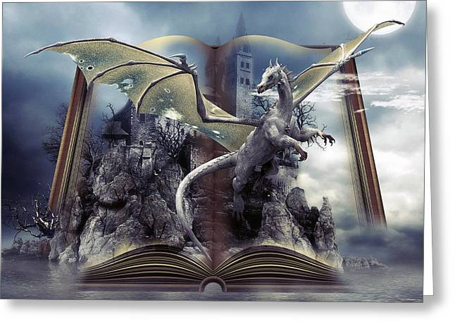 Book Of Fantasies Greeting Card