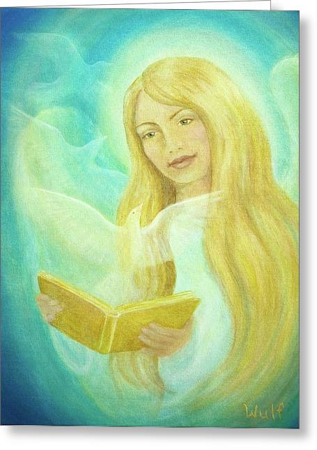 Book Of Life Greeting Card by Bernadette Wulf
