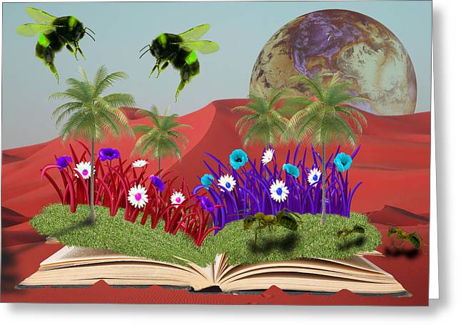 Book Of Nature Greeting Card