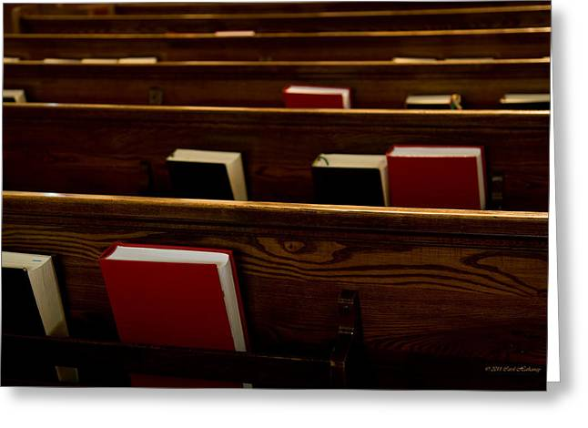 Book Of Worship I Greeting Card by Carol Hathaway