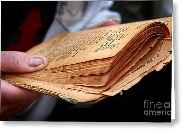 Book Torah Greeting Card by Stas Krupetsky