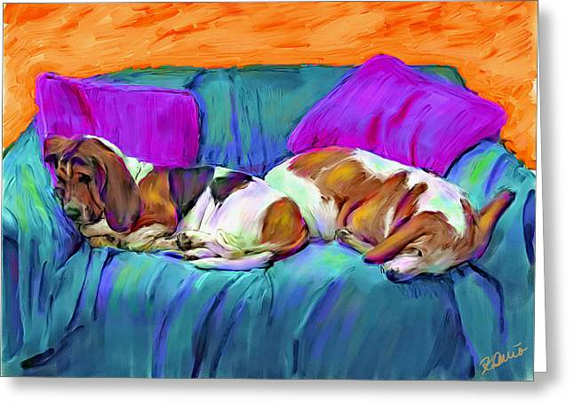 Bookends Greeting Card by Karen Derrico