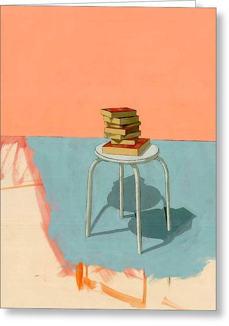 Books  Greeting Card by Adrienne Romine