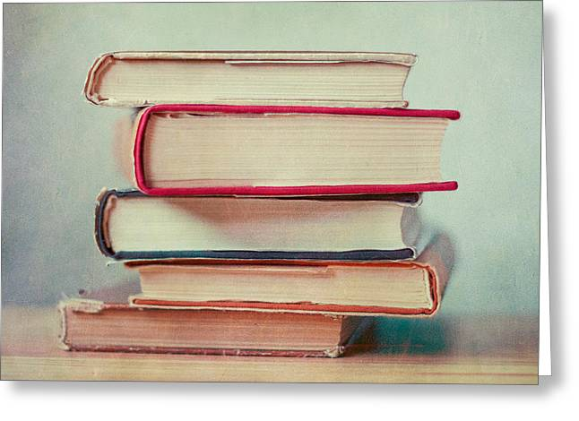 Books Love Greeting Card by Violet Gray