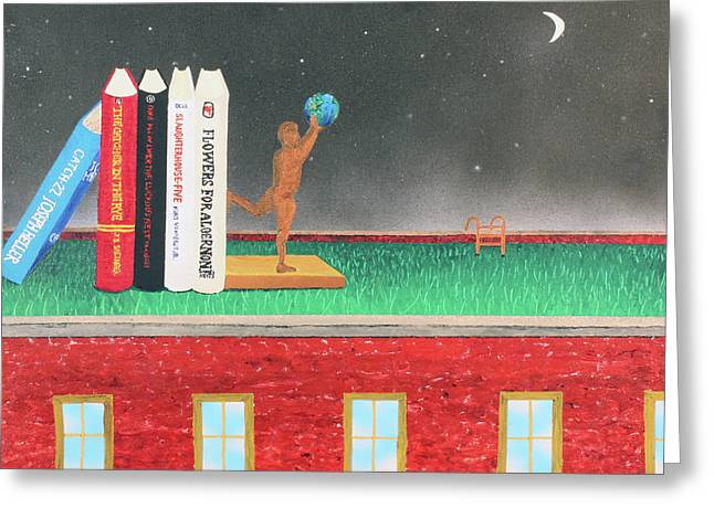 Books Of Knowledge Greeting Card by Thomas Blood
