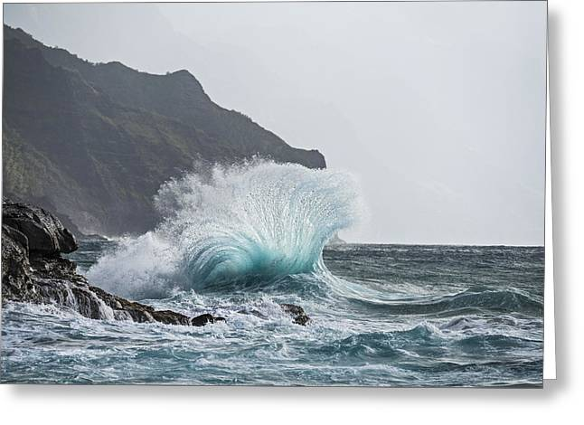 Booming Swell Greeting Card by Jon Glaser