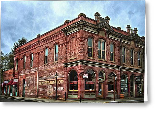 Boomtown Saloon Jacksonville Oregon Usa Greeting Card