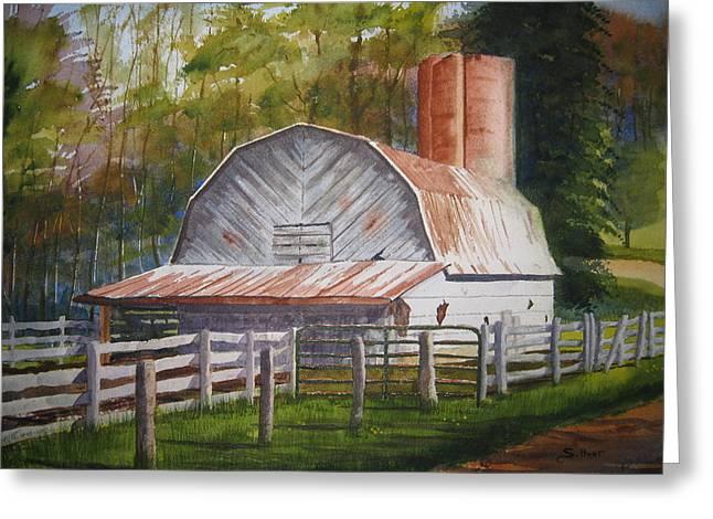 Boone Barn Greeting Card by Shirley Braithwaite Hunt