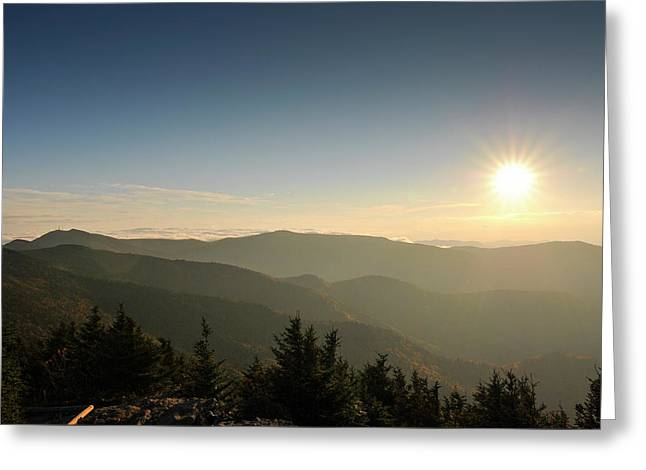 Boone Nc Area Sunset Greeting Card