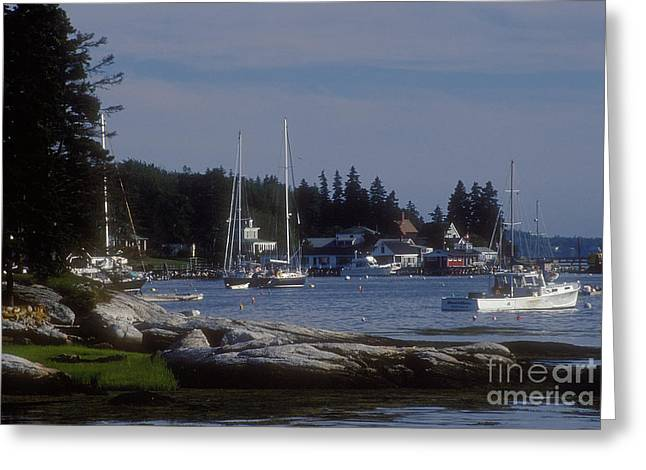 Boothbay Harbor In Maine Greeting Card