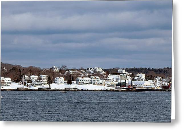 Boothbay Harbor In Winter Greeting Card by Olivier Le Queinec