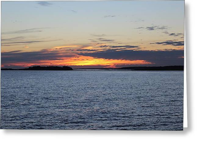Boothbay Sunset Greeting Card