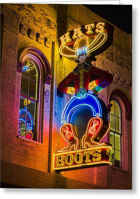 Boots And Hats Greeting Card by Stephen Stookey
