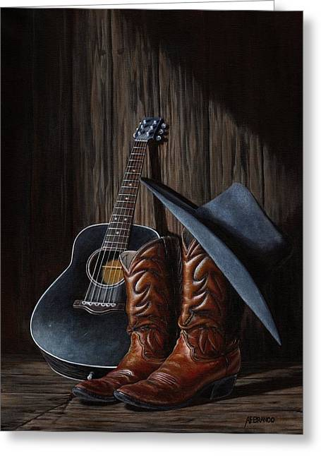 Boots Greeting Card by Antonio F Branco