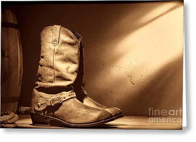 Boots At The Hacienda  Greeting Card