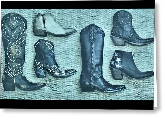 Boots By Allen Sign In Austin Texas  Greeting Card by Janette Boyd