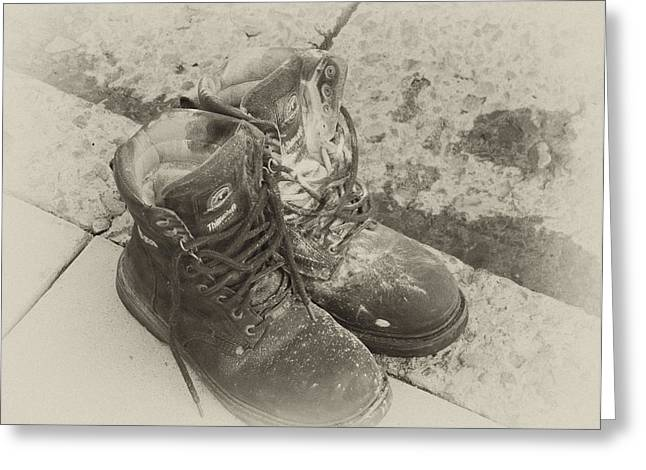Boots Reno Greeting Card by Ann Tracy