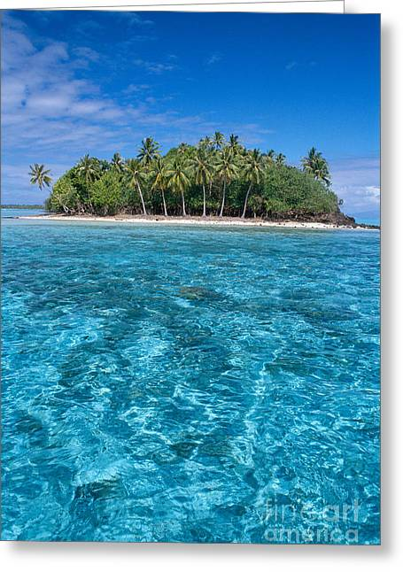 Bora Bora, Motu Greeting Card by Joe Carini - Printscapes
