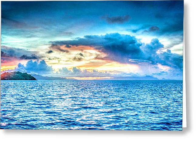 Bora Bora Sunset Greeting Card