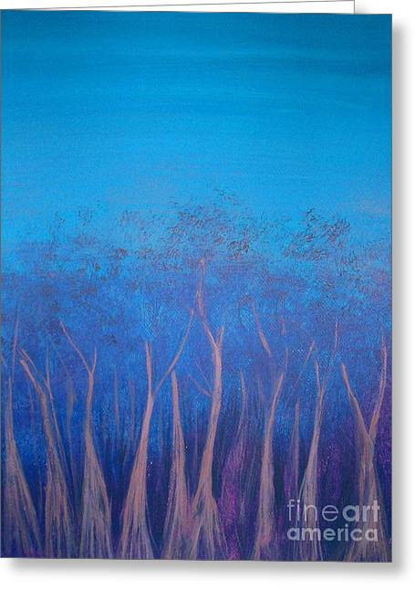 Boranup Forest In Blue Greeting Card by Leonie Higgins Noone