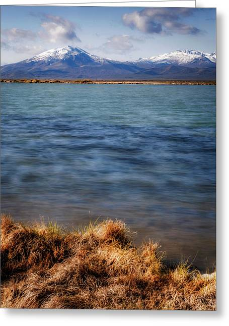 Greeting Card featuring the photograph Borax Lake by Cat Connor