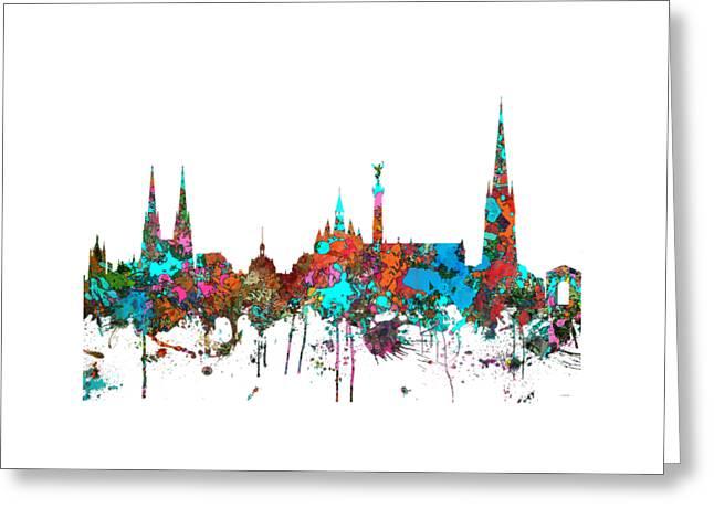 Bordeaux France  Skyline  Greeting Card