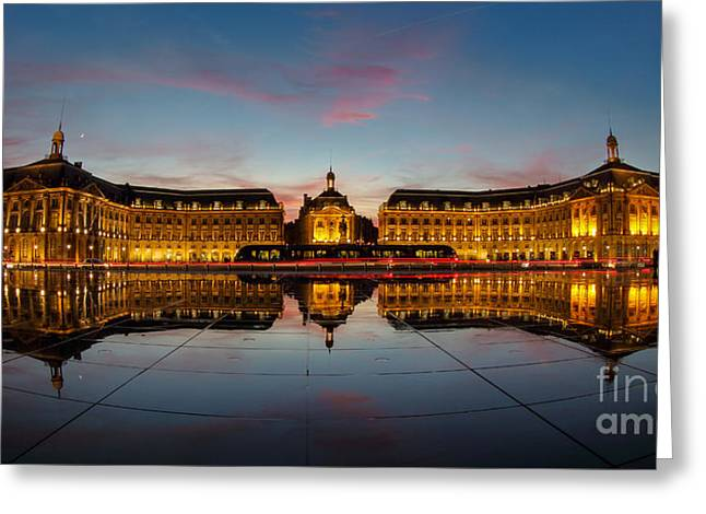 Bordeaux Reflections Greeting Card