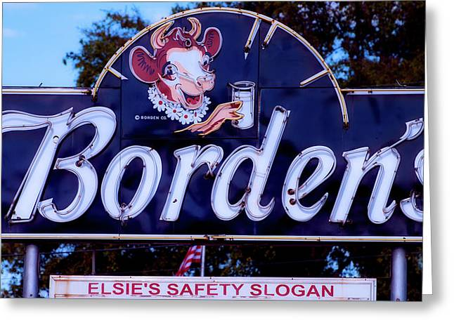 Borden's Dairy Sign Greeting Card by L O C