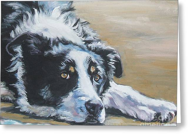 Border Collie Sea Greeting Card by Lee Ann Shepard