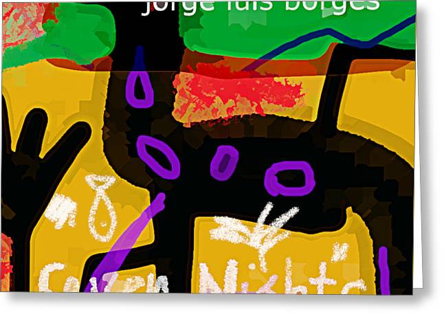 Borges Seven Nights Poster  Greeting Card
