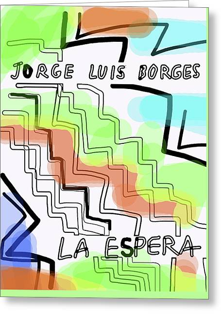 Borges The Wait Short Story  Greeting Card