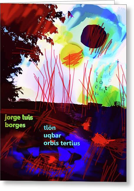 Borges Tlon Poster 2 Greeting Card