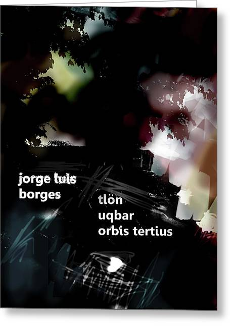 Borges Tlon Poster  Greeting Card
