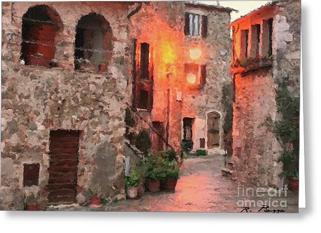 Borgo Medievale Greeting Card