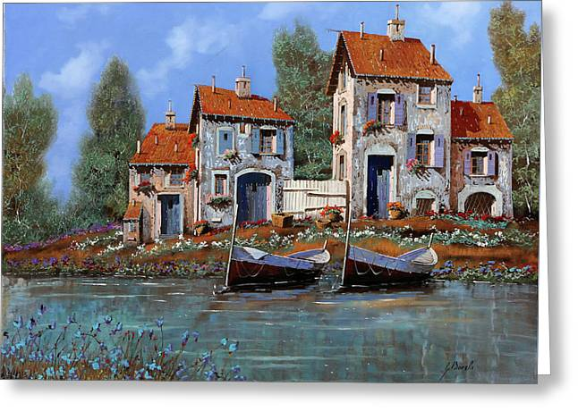 Borgo Viola Greeting Card by Guido Borelli
