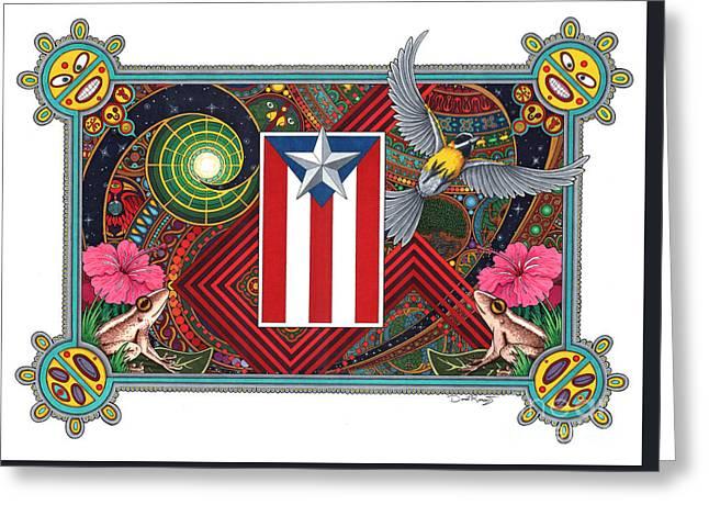 Borinquen Dreams Greeting Card by Daniel Ramirez