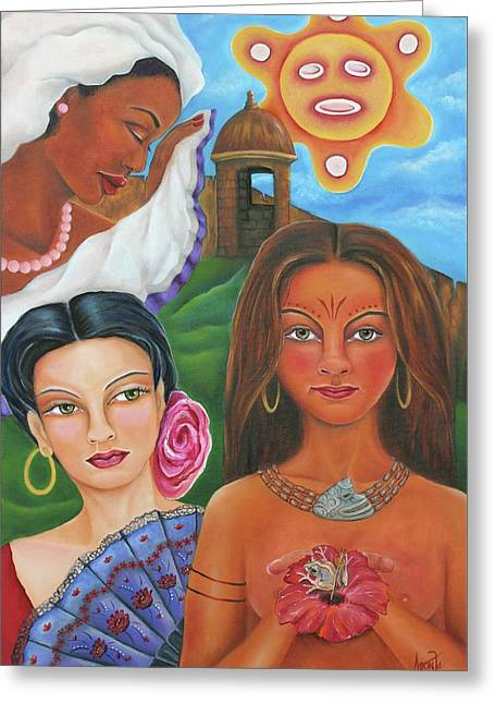 Borinquen Roots Greeting Card by Janice Aponte