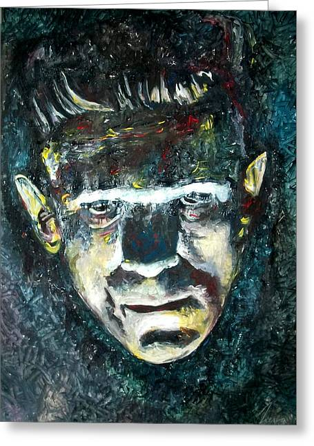Boris Karloff - Frankenstein Greeting Card