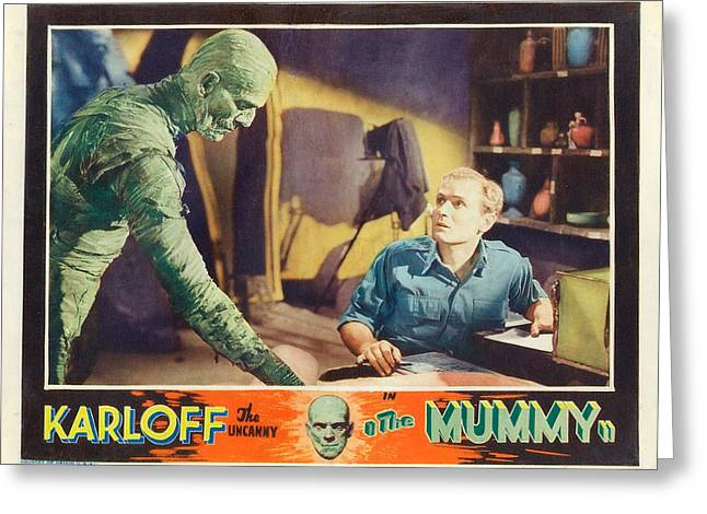 Boris Karloff In The Mummy 1932 Greeting Card