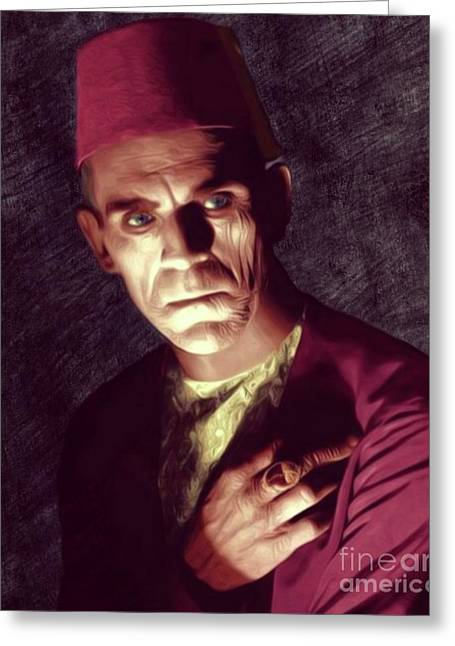 Boris Karloff Greeting Card