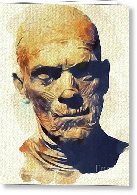 Boris Karloff, The Mummy Greeting Card