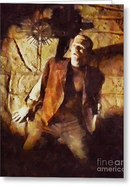 Boris Karloff, Vintage Hollywood Legend As Frankenstein Greeting Card