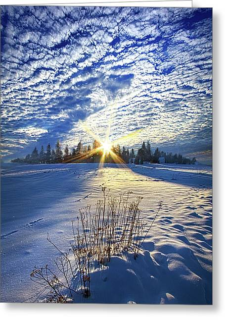 Born As We Are Greeting Card by Phil Koch