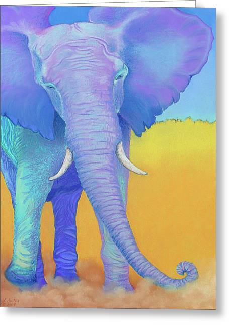 Elephant Pastels Greeting Cards - Born of Wisdom Greeting Card by Tracy L Teeter