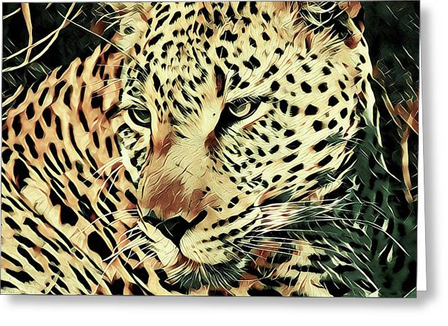Born To Be Wild Greeting Card by Susan Maxwell Schmidt