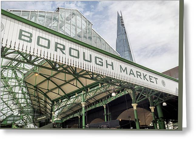 Borough Market London Greeting Card by Georgia Fowler